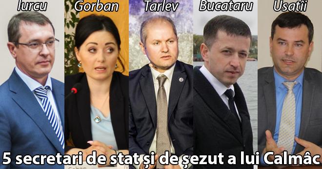 5 secretari de stat și de șezut a lui Calmâc